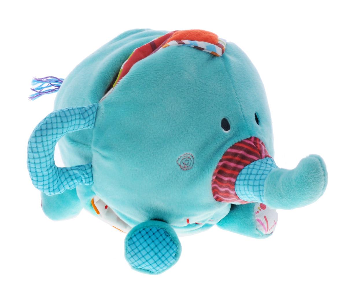 Lilliputiens Книжка-игрушка Слоненок Альберт86738Книжка-игрушка Lilliputiens Слоненок Альберт предназначена для детишек от 6 месяцев. Ее можно исследовать снова и снова. Она выполнена в виде симпатичного слоненка, раскрыв животик которого малыш обнаружит множество сюрпризов. На мягких страничках книжки встречаются самые разные персонажи. Здесь и отважный лев, и цыпленок, жонглирующий колечками, и длинноногий жираф. Объемные вышитые элементы можно трогать, открывать и закрывать, изучать, погружаясь в удивительный мир сказочных животных. На одной из страничек имеется даже маленькое зеркальце, нужно только внимательно его поискать. Сбоку имеется прорезыватель для зубов крохи. Ребенок может изучать книжку самостоятельно или с родителями, которые во время игры расскажут короткие истории или вместе с малышом разыграют короткие сценки. Игрушка выполнена из безопасных гипоаллергенных материалов. Яркие цвета и разная текстура элементов надолго привлекут внимание малютки. Книжка- игрушка Lilliputiens...
