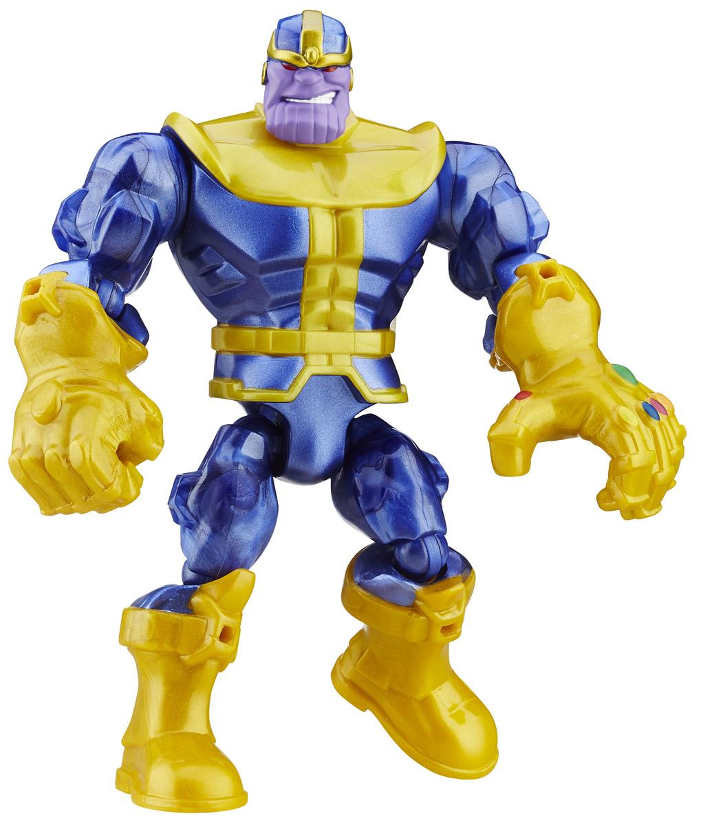 Hero Mashers Разборная фигурка ThanosA6825EU4_6073_синий металлик/горчичныйРазборная фигурка Hero Mashers Thanos обязательно привлечет внимание маленького поклонника супергероев! Фигурка выполнена из прочного пластика в виде вымышленного персонажа - Таноса, суперзлодея вселенной комиксов Marvel. Голова, руки и ноги фигурки подвижны, вращаются и сгибаются, а также отделяются от корпуса. Фигурка совместима с другими фигурками из серии Super Hero Mashers. Собрав коллекцию фигурок от Hasbro, вы сможете создать своего супергероя, объединяя способности разных героев комиксов Marvel. Все элементы обладают единым способом крепления, что позволяет создавать различные комбинации. Ребенок с удовольствием будет играть с фигуркой, придумывая разные истории.