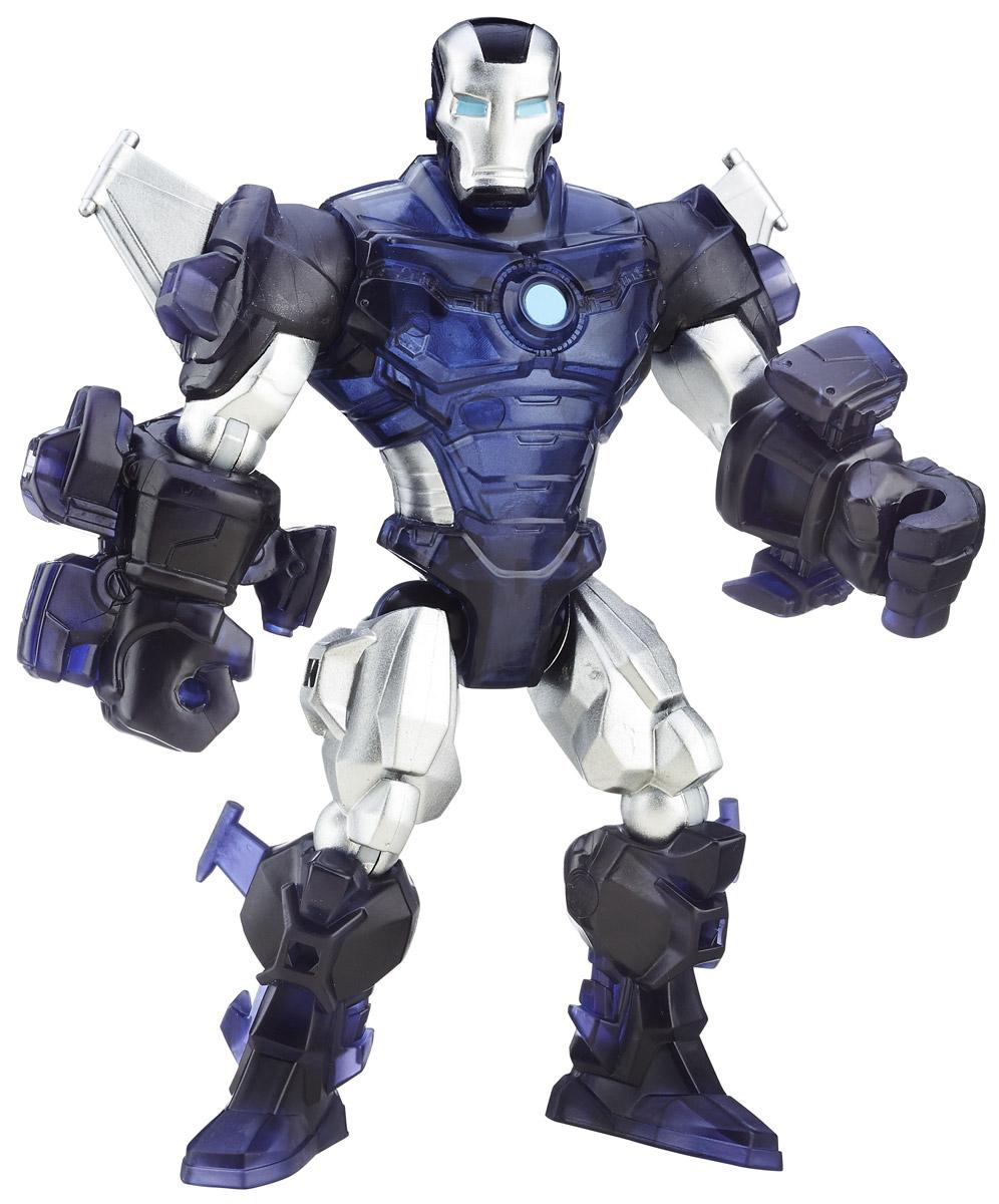 Hero Mashers Разборная фигурка Marvels War MachineA6825EU4_6075_тёмно синий/серебристыйРазборная фигурка Hero Mashers Marvels War Machine обязательно привлечет внимание маленького поклонника супергероев! Фигурка выполнена из прочного пластика в виде вымышленного персонажа - Воителя, супергероя вселенной комиксов Marvel. Голова, руки и ноги фигурки подвижны, вращаются и сгибаются, а также отделяются от корпуса. Фигурка совместима с другими фигурками из серии Super Hero Mashers. Собрав коллекцию фигурок от Hasbro, вы сможете создать своего супергероя, объединяя способности разных героев комиксов Marvel. Все элементы обладают единым способом крепления, что позволяет создавать различные комбинации. Ребенок с удовольствием будет играть с фигуркой, придумывая разные истории.