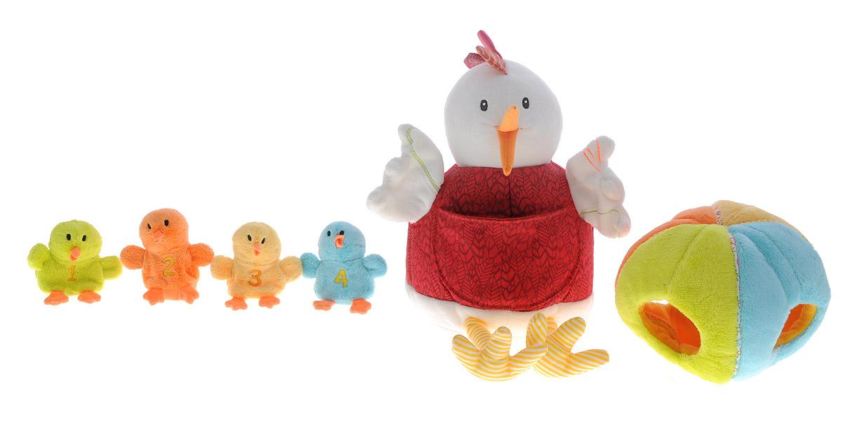 Lilliputiens Мягкая игрушка Курочка Офелия и ее цыплятки 21 см86635Мягкая игрушка Lilliputiens Курочка Офелия и ее цыплятки выполнена из мягкого текстильного материала, чтобы играть с ней могли самые маленькие. У курочки Офелии имеется большое плюшевое яйцо, в котором прячутся цыплята. Каждый птенец имеет свой номер, цвет, и попадает в яйцо со стороны своего цвета. С курочкой можно устраивать настоящее театральное представление для ребенка, ее удобно надеть на руку, а маленьких детишек-птенчиков на пальцы. Мягкая игрушка Lilliputiens Курочка Офелия и ее цыплятки познакомит ребенка с миром ролевых игр, научит его разным цветам, цифрам. Также игрушка развивает мелкую моторику пальцев рук, тактильные ощущения, слух и зрение. Игрушка работает от 2 незаменяемых батареек типа AG3 (входят в комплект).
