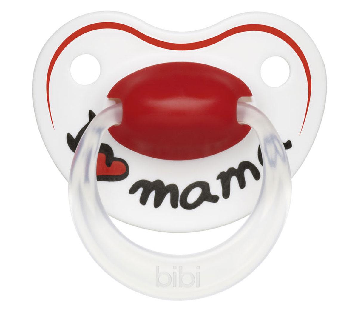 Bibi Пустышка силиконовая Premium Dental Happiness Mama от 0 до 6 месяцев