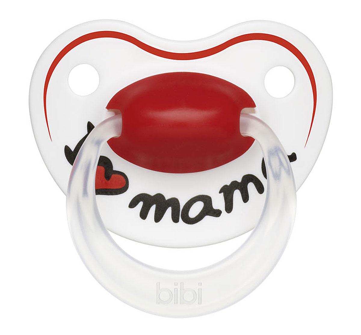 Bibi Пустышка силиконовая Premium Dental Happiness Mama от 6 до 16 месяцев113216Пустышка разработана с учетом новейших экспертных рекомендаций и сотрудничества с мамами. - Легкая и сбалансированная по весу пустышка для гармоничного восприятия. - Бархатистый мягкий и гибкий силикон для комфорта и максимальной безопасности. - Пупырышки SensoPearls - для нежного контакта нагубника с кожей малыша. - Увеличенные вентиляционные отверстия в нагубнике для комфорта нежной детской кожи. - Эргономичная форма нагубника ErgoComfort подходит для всех малышей. - Безупречное качество! - Ортодонтическая форма соски формирует правильное развитие прикусам. - Специальный клапан внутри соски обеспечивает циркуляцию воздуха, поэтому соска всегда остается мягкой и гибкой. - Пустышки сделаны из высококачественного полипропилена (нагубник) и силикона (соска). - Защитный колпачок в комплекте с каждой пустышкой. - Модный дизайн выполнен совершенно безопасными пищевыми красителями.