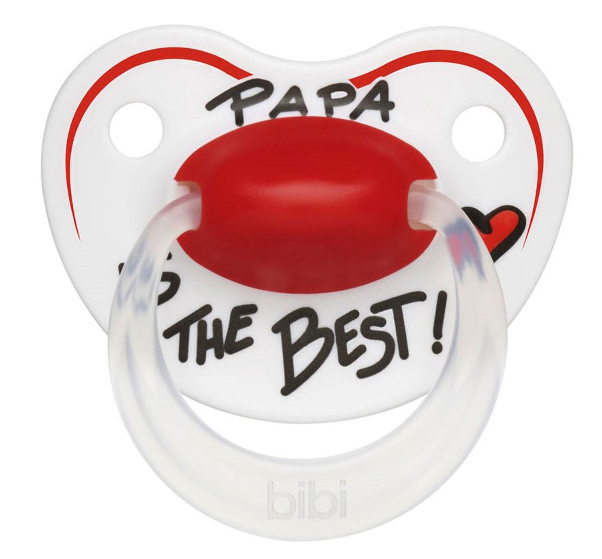 Bibi Пустышка силиконовая Premium Dental Happiness Papa от 0 до 6 месяцев