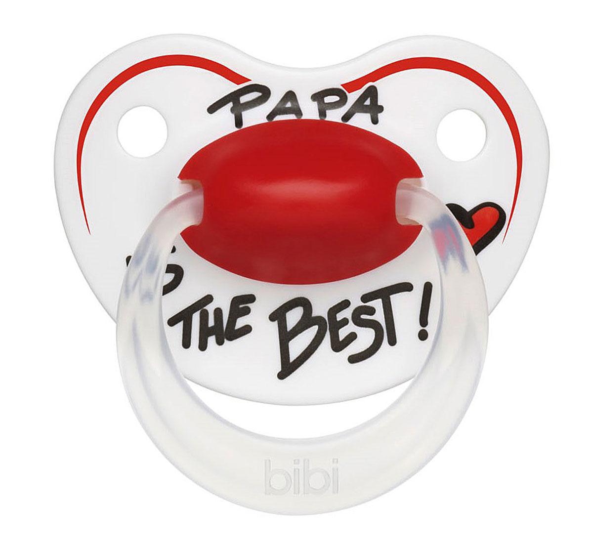 Bibi Пустышка силиконовая Premium Dental Happiness Papa от 6 до 16 месяцев