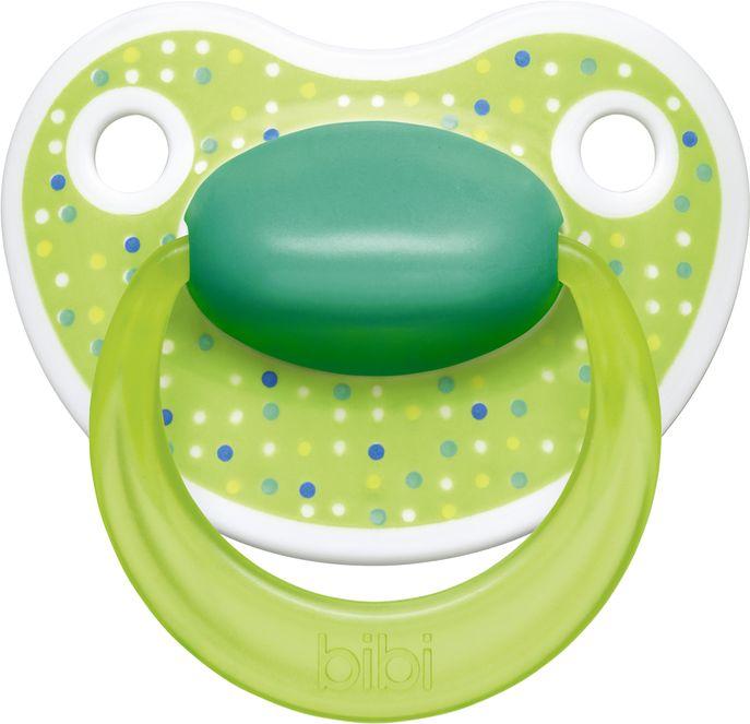 Bibi Пустышка Premium Dental силиконовая 0-6 месяцев Happiness LovelyDots