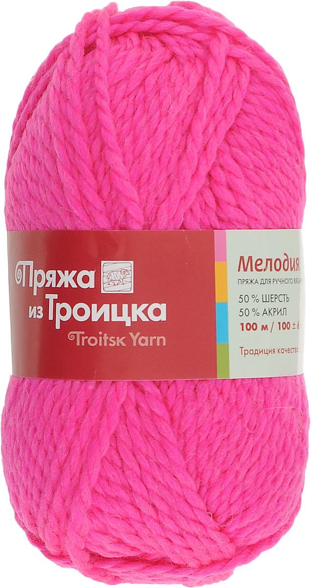Пряжа для вязания Мелодия, цвет: яркая мальва (3060), 100 м, 100 г, 10 шт366020_3060Классическая пряжа Мелодия имеет среднюю толщину нити и состоит из 50% шерсти и 50% акрила. Подходит для создания детских вещей на осень. Пуловеры, платья, пледы, шапки и шарфы из этой пряжи отлично держат форму и прекрасно согреют вас в холодную погоду. Благодаря составу и скрутке, петли отлично ложатся одна к другой, вязаное полотно получается ровное и однородное. Пряжа рассчитана на любой уровень мастерства, но особенно понравится начинающим мастерицам - благодаря толстой нити пряжа Мелодия позволяет быстро связать простую вещь. Структура и состав пряжи максимально комфортны для вязания. Состав: 50% акрил, 50% шерсть. Рекомендуемые спицы: 6 мм.