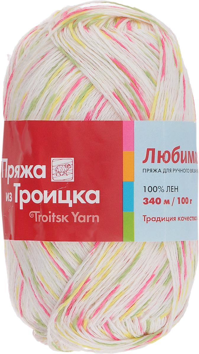 Пряжа для вязания Любимая, цвет: белый, зеленый, малиновый (7124), 340 м, 100 г, 10 шт366115_7124Пряжа Любимая состоит из 100% льна. Льняная нить тонкая, поэтому подходит больше для крючка, чем для спиц. Такая пряжа довольно жесткая, износоустойчивая, хорошо держит форму изделия. Особенно хороша для вязания летних шляпок, сумочек, салфеток, вазочек. Состав: 100% лен. Рекомендуемые спицы: №1,5.