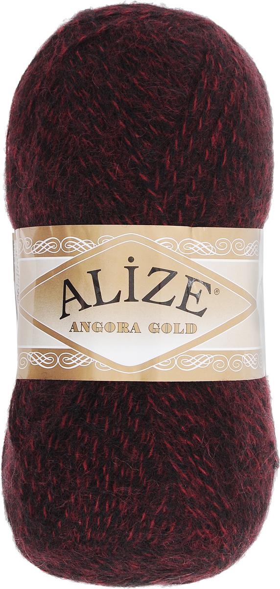Пряжа для вязания Alize Angora Gold, цвет: бордовый, черный (705), 550 м, 100 г, 5 шт364111_705Пряжа для вязания Alize Angora Gold изготовлена из акрила, мохера и шерсти, что способствует прекрасному тепловому обмену, легкости и комфорту. Ниточка тонкая, пушистая. Из такой пряжи получаются вещи, которые не требуют ни украшений, ни дополнений. Пряжа допускает самую простую и примитивную вязку, но при этом смотрится необычно благодаря своей цветовой палитре. В ее состав входит акрил, что позволяет стирать ваши изделия в стиральной машине (на деликатной стирке) и они не потеряют свою первоначальную форму. Пряжа Alize Angora Gold отлично подходит для вязания свитеров, жилетов, шарфов, шапок, шалей и многого другого. Рекомендуется ручная стирка. Рекомендованные спицы № 3-6, крючок № 2-4. Комплектация: 5 мотков. Состав: 80% акрил, 10% шерсть, 10% мохер.