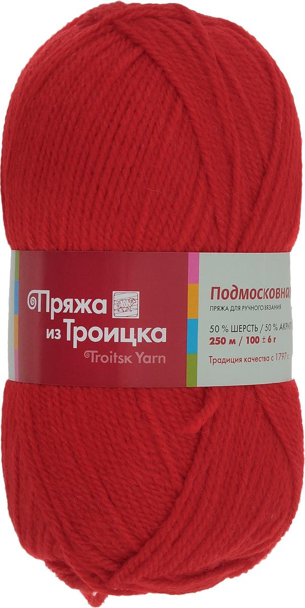 Пряжа для вязания Подмосковная, цвет: красный (0042), 250 м, 100 г, 10 шт366001_0042Пряжа Подмосковная, изготовленная из 50% шерсти и 50% акрила, предназначена для ручного вязания. Несмотря на синтетические волокна изделие сохранило нежность и воздушность, присущую натуральному материалу. Связанный трикотаж не линяет и сохраняет после стирки не только цвет, но и форму. Готовые изделия имеют деликатную мягкую текстуру, изумительную износостойкость и способность сохранять тепло. Пряжа спрядена ровными нитями со слабым кручением. Без труда скроет мелкие недочеты вязки, поэтому она просто идеальна для новичков, желающих набить руку на вязании. С такой пряжей процесс вязания превратится в настоящее удовольствие, а внешний вид изделий подарит эстетическое наслаждение и комфорт. Состав: 50% шерсть, 50% акрил. Рекомендуемый размер спиц: 3,25 мм.