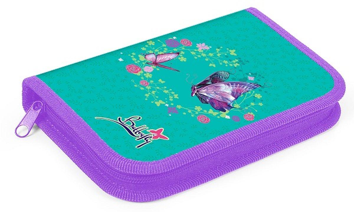 Hatber Пенал ButterflyNPn_11015Удобный пенал от Hatber Butterfly - это неотъемлемый атрибут для любой современной школьницы. Пенал изготовлен из прочного картона высокого качества, имеет одно отделение закрывающееся на молнию. Внутри расположены специальные петельки из резинки, которые надежно фиксируют ручки и карандаши, маркеры и ластик, точилку и другие предметы. Нежный и красочный дизайн, оформленный в нежном изумрудном цвете с цветочками,бабочками и блестками понравится даже самой требовательной школьнице. Удобный пенал от Hatber Butterfly станет стильным и практичным помощником для вашего ребенка и займет достойное место в его канцелярских аксессуарах.