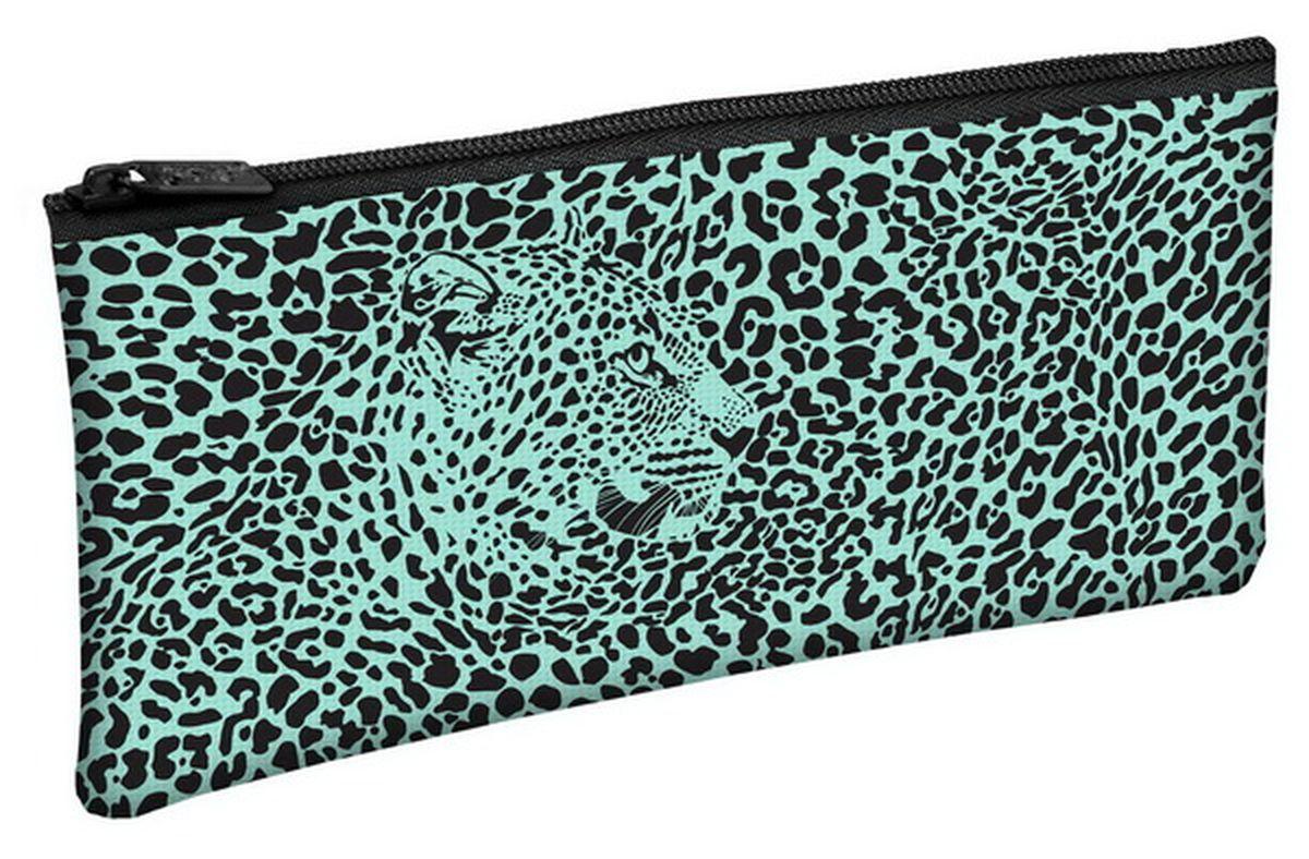 Hatber Пенал Leopard StyleNpk_30008Пенал на молнии Hatber Leopard Style - это неотъемлемый атрибут для любой современной школьницы. Он выполнен из 100% полиэстера на современном оборудовании, что обеспечивает ему яркую, насыщенную передачу цветов. Нежный и красочный дизайн, оформленный в бирюзовом цвете с изображением леопарда, понравится даже самой требовательной школьнице. Компактный, но вместительный пенал Hatber Leopard Style станет стильным и практичным помощником для вашего ребенка и займет достойное место в его канцелярских аксессуарах.