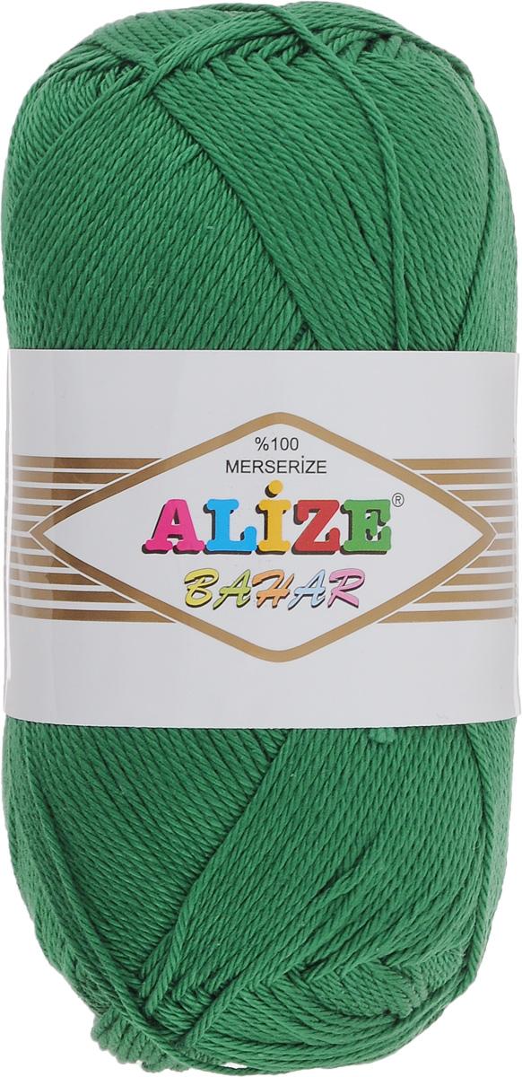 Пряжа для вязания Alize Bahar, цвет: зеленая трава (118), 260 м, 100 г, 5 шт364089_118Пряжа Alize Bahar подходит для ручного вязания детям и взрослым. Пряжа однотонная, приятная на ощупь, хорошо лежит в полотне. Изготовлена из специально обработанного хлопка. Мерсеризация придает нити особый блеск. Пряжа Alize Bahar отлично подходит для работы и крючком, и спицами, послушно ложится в узоры любой сложности, предназначена для вывязывания летних легких вещей. В силу натуральности и экологической чистоты эта пряжа подходит и для детских вещей. Изделия из такой нити получаются мягкие и красивые. Рекомендуемый размер спиц: № 3-5. Рекомендуемый размер крючка: № 2-4. Состав: 100% мерсеризованный хлопок.