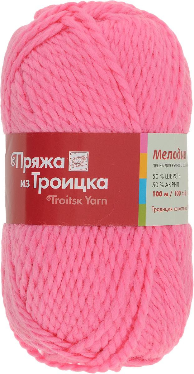 Пряжа для вязания Мелодия, цвет: розовый (0160), 100 м, 100 г, 10 шт366020_0160Классическая пряжа Мелодия имеет среднюю толщину нити и состоит из 50% шерсти и 50% акрила. Подходит для создания детских вещей на осень. Пуловеры, платья, пледы, шапки и шарфы из этой пряжи отлично держат форму и прекрасно согреют вас в холодную погоду. Благодаря составу и скрутке, петли отлично ложатся одна к другой, вязаное полотно получается ровное и однородное. Пряжа рассчитана на любой уровень мастерства, но особенно понравится начинающим мастерицам - благодаря толстой нити пряжа Мелодия позволяет быстро связать простую вещь. Структура и состав пряжи максимально комфортны для вязания. Состав: 50% акрил, 50% шерсть. Рекомендуемые спицы: 6 мм.