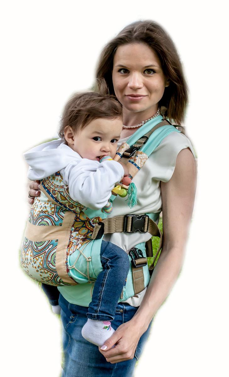 Мамарада Эрго рюкзак Этно светлая бирюза размер 42-54 70014