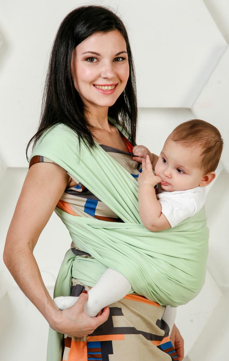 Мамарада Слинг-Шарф для новорожденных Мята размер 42-52701Идеальный слинг для детей от рождения и до веса ребенка в 8-9 кг. Трикотажный слинг-шарф ТМ МАМАРАДА сшит из 100% хлопка, края обработаны оверлоком, отлично подходит для малышей от рождения и до 4-6мес. Нежный, мягкий, дышащий и хорошо тянущийся. Предпочтителен в качестве первого слинга, так как осваивать азы слингоношения легче всего именно с трикотажным слингом. Он легко тянется во все стороны, что помогает нивелировать некоторые огрехи при первых намотках. Прилагается иллюстрированная инструкция. Единоразмерный. Подойдет для родителей до50-52р-ра Состав: 100% хлопок.