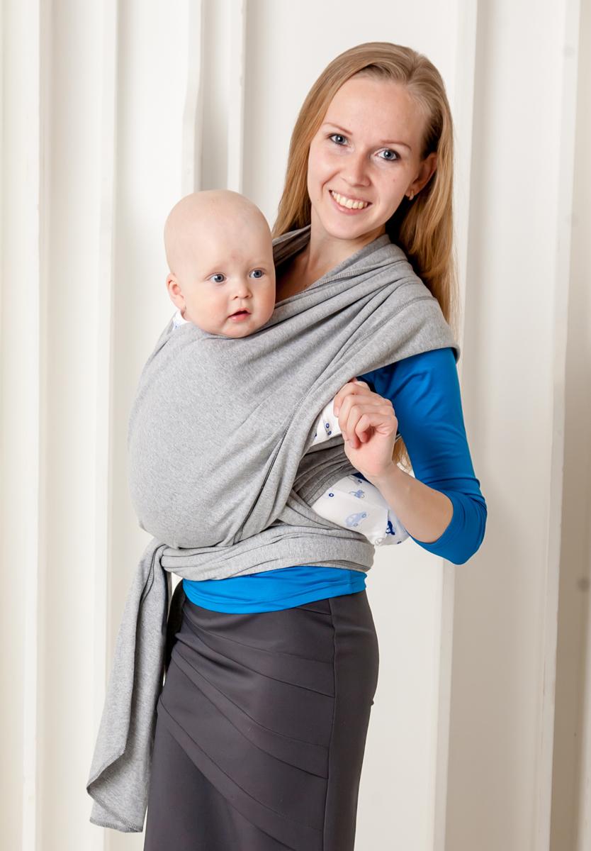 Мамарада Слинг-Шарф для новорожденных серый меланж размер 42-52704Идеальный слинг для детей от рождения и до веса ребенка в 8-9 кг. Трикотажный слинг-шарф ТМ МАМАРАДА сшит из 100% хлопка, края обработаны оверлоком, отлично подходит для малышей от рождения и до 4-6мес. Нежный, мягкий, дышащий и хорошо тянущийся. Предпочтителен в качестве первого слинга, так как осваивать азы слингоношения легче всего именно с трикотажным слингом. Он легко тянется во все стороны, что помогает нивелировать некоторые огрехи при первых намотках. Прилагается иллюстрированная инструкция. Единоразмерный. Подойдет для родителей до50-52р-р. Состав: 100% хлопок.