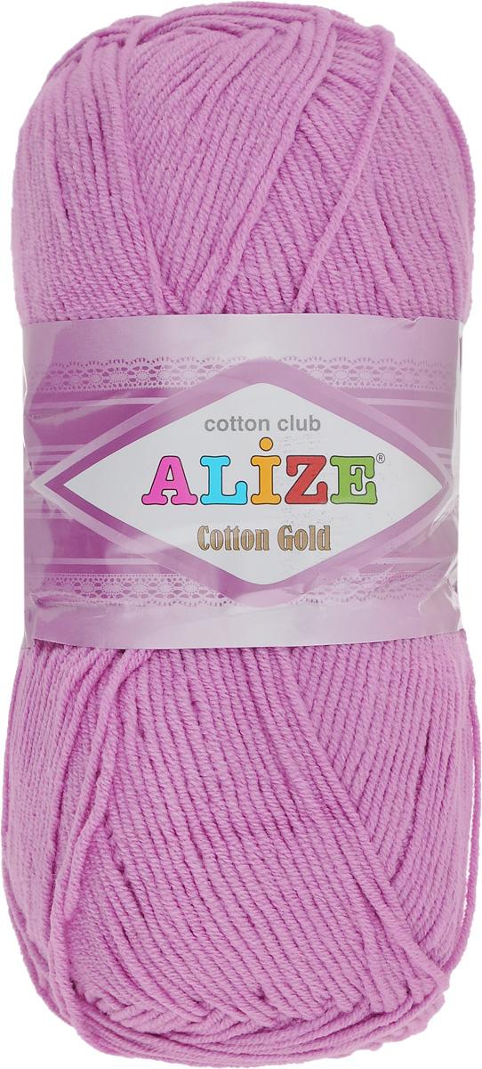 Пряжа для вязания Alize Cotton Gold, цвет: розовый (612), 330 м, 100 г, 5 шт697548_612Пряжа для вязания Alize Cotton Gold - это классическая демисезонная пряжа, изготовленная из хлопка и акрила. Данная пряжа отлично подойдет для изделий осень-весна. Она также подходит для вязания летних вещей взрослым и детям. Мягкая и бархатистая на ощупь. Полотно получается пластичным, мягким, все переплетения ровные. Состав: 55% хлопок, 45% акрил. Рекомендуемый размер спиц: № 3,5 - 5. Рекомендуемый размер крючка: № 2 - 4.