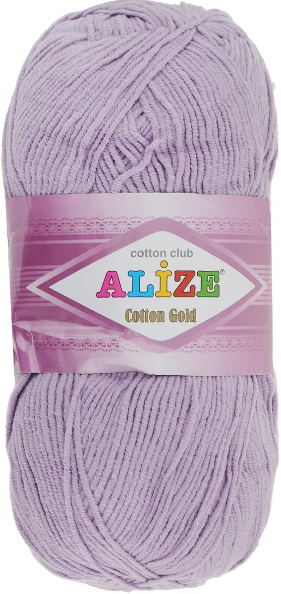 Пряжа для вязания Alize Cotton Gold, цвет: лиловый (166), 330 м, 100 г, 5 шт697548_166Пряжа для вязания Alize Cotton Gold - это классическая демисезонная пряжа из хлопка с акрилом. Данная пряжа отлично подойдет для изделий осень-весна. Также подходит для вязания летних вещей взрослым и детям. Мягкая и бархатистая на ощупь. Полотно получается пластичным, мягким, все переплетения ровные. Состав: 55% хлопок, 45% акрил. Рекомендуемый размер спиц: № 3,5 - 5. Рекомендуемый размер крючка: № 2 - 4.