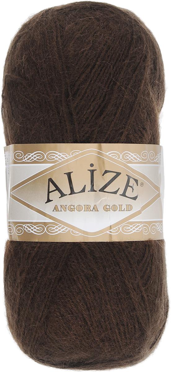 Пряжа для вязания Alize Angora Gold, цвет: темно-коричневый (26), 550 м, 100 г, 5 шт364111_26Пряжа для вязания Alize Angora Gold изготовлена из акрила, мохера и шерсти, что способствует прекрасному тепловому обмену, легкости и комфорту. Ниточка тонкая, пушистая. Из данной пряжи получаются вещи, которые не требуют ни украшений, ни дополнений. Пряжа допускает самую простую и примитивную вязку, но при этом смотрится необычно благодаря своей цветовой палитре. В ее состав входит акрил, что позволяет стирать ваши изделия в стиральной машине (на деликатной стирке) и они не потеряют свою первоначальную форму. Классическая зимняя пряжа для вязания теплых пушистых вещей. Пряжа отлично подходит для вязания свитеров, жилетов, шарфов, шапок, шалей и многого другого. С такой пряжей вы сможете связать своими руками необычные и красивые вещи. Состав: 80% акрил, 10% шерсть, 10% мохер. Рекомендуется ручная стирка. Рекомендованные спицы № 3-6, крючок № 2-4.