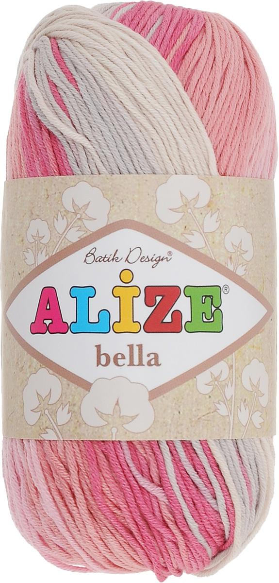 Пряжа для вязания Alize Bella Batik, цвет: малиновый, розовый, белый (5512), 180 м, 50 г, 5 шт364125_5512Пряжа Alize Bella Batik подходит для ручного вязания детям и взрослым. Пряжа секционного крашения, мягкая и приятная на ощупь, хорошо лежит в полотне. Мягкая и красивая нить в процессе вязания превращается в оригинальный узор. Состав: 100% хлопок. Рекомендованные спицы 2-4 мм и крючок для вязания 1-3 мм. Комплектация: 5 мотков.