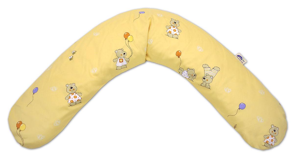 TheraLine Подушка для беременных и кормящих мам Медведь и бабочка цвет абрикос