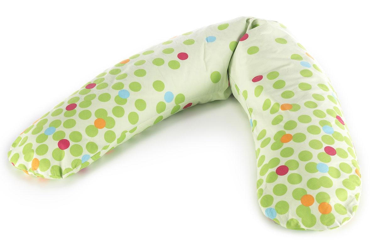 TheraLine Подушка для беременных и кормящих мам Кружки цвет зеленый52021800Подушка Theraline необходима для беременных и кормящих мам во время сна, отдыха и кормления малыша. Наполнитель представляет собой мелкие (всего 0,5-1,5 мм!!!) полистироловые шарики, гипоаллергенный, без запаха, абсолютно безвредный для здоровья,что подтверждено результатами немецкого OKO-Test.