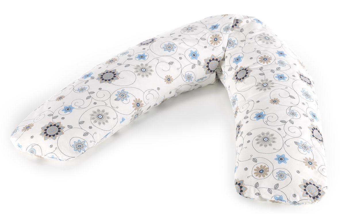 TheraLine Подушка для беременных и кормящих мам Цветы цвет экрю