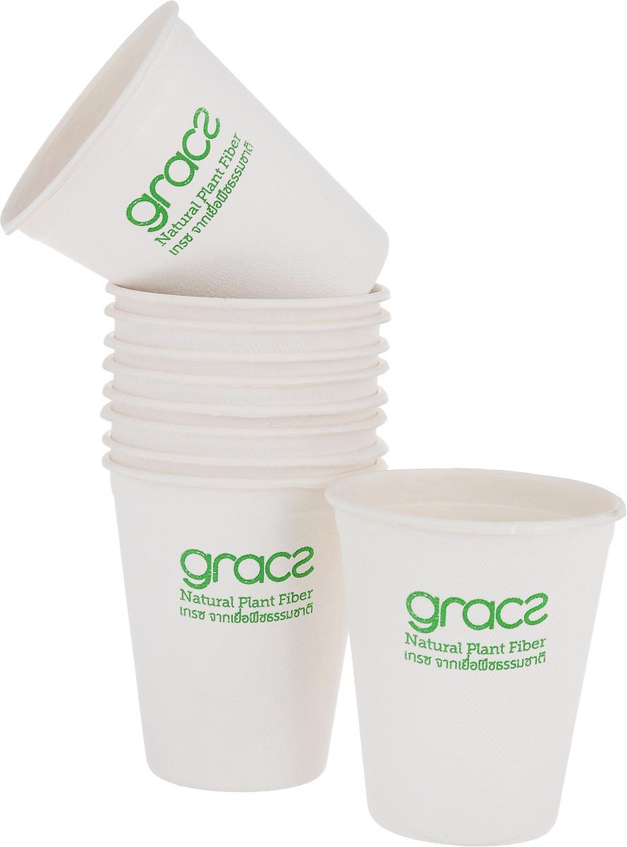 Набор стаканов Gracs, биоразлагаемых, цвет: белый, 120 мл, 10 штL048Набор Gracs состоит из 10 биоразлагаемых стаканов, выполненных из экологически чистого материала - сахарного тростника. Материал не содержит токсинов и канцерогенов. Набор Gracs можно использовать как для холодных, так и для горячих продуктов. Набор можно использовать в микроволновой печи. Одноразовая биоразлагаемая посуда Gracs- полезно для здоровья, безопасно для окружающей среды! Высота стакана: 5,5 см. Диаметр стакана: 7,5 см.