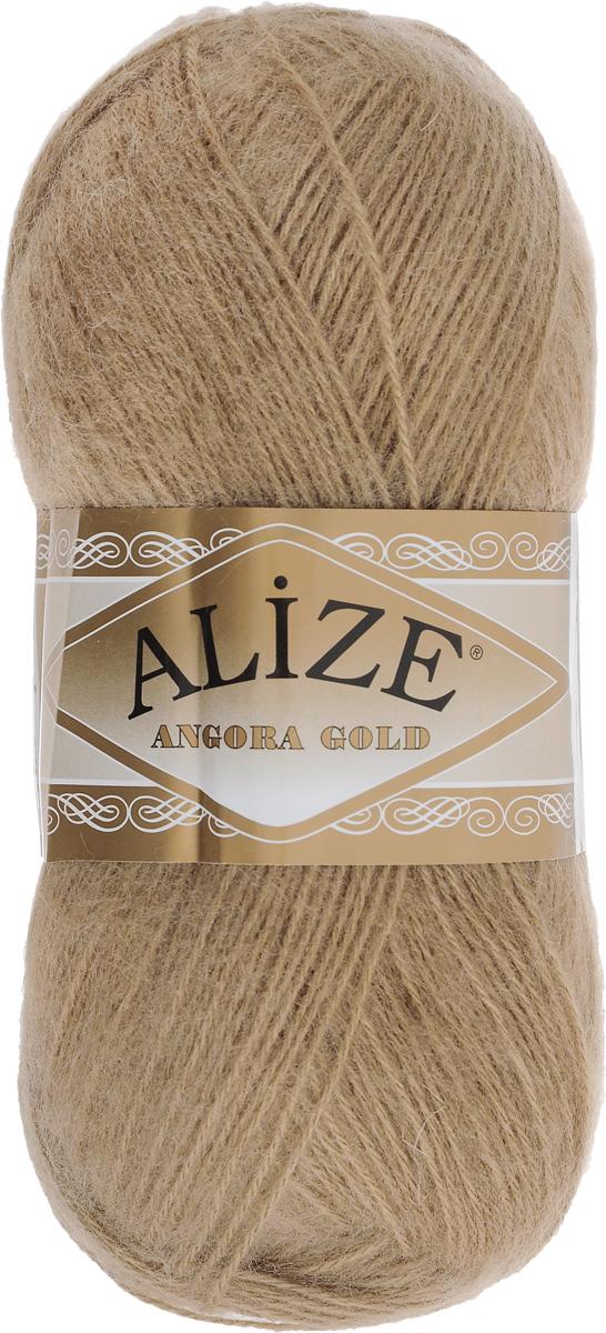 Пряжа для вязания Alize Angora Gold, цвет: светло-коричневый (697), 550 м, 100 г, 5 шт364111_697Пряжа для вязания Alize Angora Gold изготовлена из акрила, мохера и шерсти, что способствует прекрасному тепловому обмену, легкости и комфорту. Ниточка тонкая, пушистая. Из данной пряжи получаются вещи, которые не требуют ни украшений, ни дополнений. Пряжа допускает самую простую и примитивную вязку, но при этом смотрится необычно благодаря своей цветовой палитре. В ее состав входит акрил, что позволяет стирать ваши изделия в стиральной машине (на деликатной стирке) и они не потеряют свою первоначальную форму. Классическая зимняя пряжа для вязания теплых пушистых вещей. Пряжа отлично подходит для вязания свитеров, жилетов, шарфов, шапок, шалей и пр. Рекомендуется ручная стирка. Рекомендованные спицы № 3-6, крючок № 2-4. С такой пряжей для ручного вязания вы сможете связать своими руками необычные и красивые вещи. Состав: 80% акрил, 10% шерсть, 10% мохер.