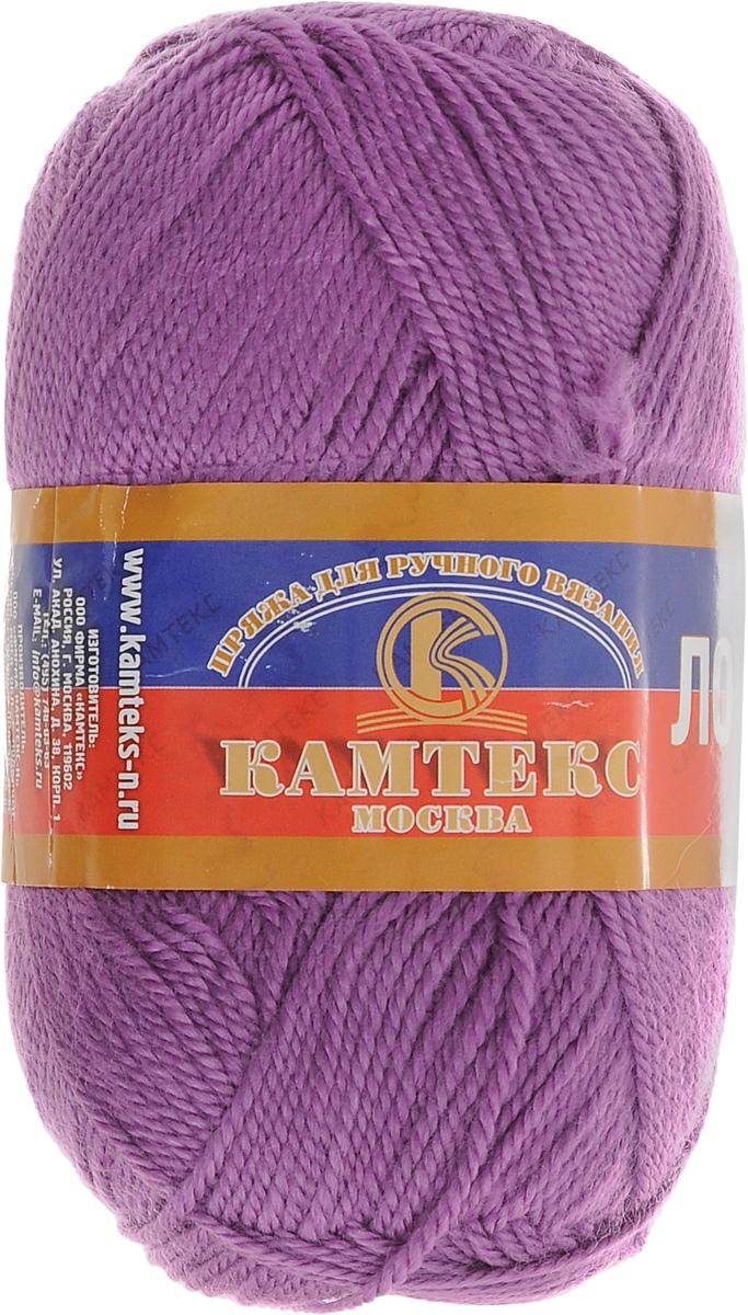 Пряжа для вязания Камтекс Лотос, цвет: персидская сирень (059), 300 м, 100 г, 10 шт136083_059Пряжа для вязания Камтекс Лотос изготовлена из 100% акрила. Пряжа имеет приятную мягкость, вяжется очень легко, совершенно не путаясь. По своим свойствам акриловая нить близка к шерсти. Только, в отличие от шерсти, она приятна для тела, совсем не колется, не раздражает кожу, подходит даже для детей. Существует вероятность, что изделие может слегка растянуться, но этого можно избежать деликатным обращением и плотной вязкой. Пряжа Камтекс Лотос подходит для вязания крючками и спицами, хорошо получаются любые виды узоров. Идеальный вариант для вязания демисезонных головных уборов, жакетов, свитеров, болеро, детской одежды. Пряжа имеет приятный благородный блеск. Богатая цветовая палитра - смелые и насыщенные оттенки. Рекомендуемый размер крючка и спиц 3-5 мм. Состав: 100% акрил. Комплектация: 10 шт. Толщина нити: 1,5 мм.
