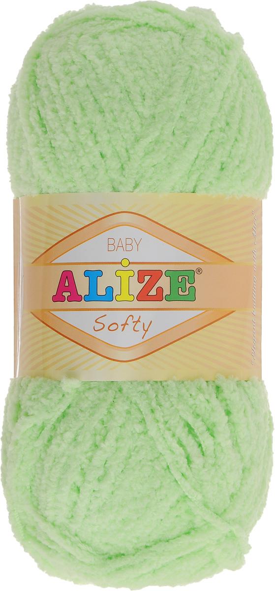 Пряжа для вязания Alize Softy, цвет: светло-зеленый (41), 115 м, 50 г, 5 шт694530_41Пряжа для вязания Alize Softy изготовлена из микрополиэстера. Фантазийная плюшевая пряжа для ручного вязания прекрасно подойдет для детской одежды. Ниточка мягкая и приятная на ощупь. Подходит для вязания спицами и крючком. Рекомендованные спицы: № 3-5, крючок: № 2-4. Комплектация: 5 мотков.