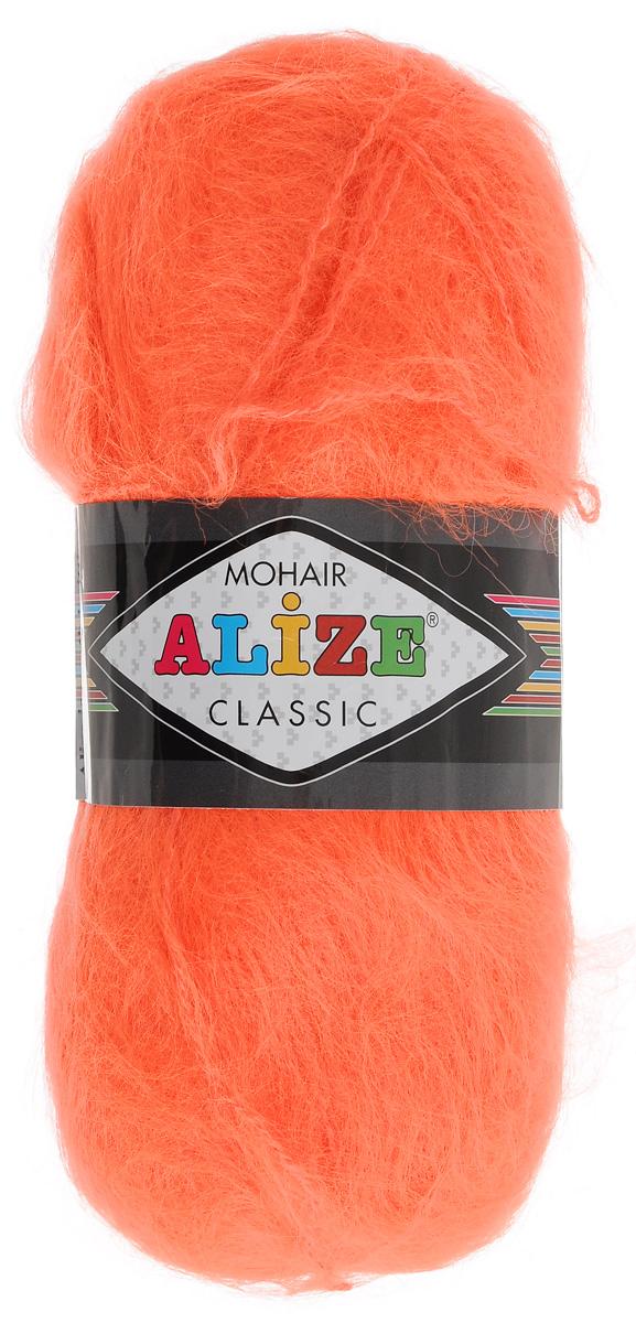 Пряжа для вязания Alize Mohair Classic, цвет: ярко-оранжевый (654), 200 м, 100 г, 5 шт136036_654Классическая мохеровая пряжа для ручного вязания, тонкая, мягкая, деликатная нить, хорошо скрученная. Послушная нить, которая отлично подходит для опытных вязальщиц и для начинающих рукодельниц. Легкая и гибкая пряжа с акрилом, придающим готовым вещам практичность. Благодаря пушистому мохеру можно использовать самый простой узор и при этом изделие будет выглядеть великолепно. Высококачественная пряжа, равномерно окрашенная, не линяет. Цветовой диапазон Alize Mohair Classic широк и вдохновляет богатством оттенков. Мягкая, теплая нить прекрасно подходит для взрослой и детской зимней одежды. Пушистость пряжи в изделии без сложных узлов даже с ровной вязкой будет придавать одежде особый шарм. Состав: 70% мохер, 30% акрил. Рекомендованные спицы № 5-6, крючок № 2-3.