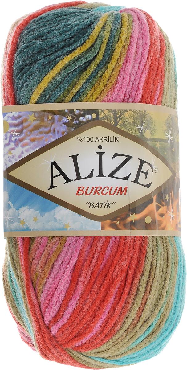 Пряжа для вязания Alize Burgum Batik, цвет: бирюзовый, красный, зеленый (5672), 210 м, 100 г, 5 шт364118_5672Пряжа для вязания Alize Burgum Batik изготовлена из 100% акрила, что способствует прекрасному тепловому обмену, легкости и комфорту. Ниточка тонкая, пушистая. Из данной пряжи получаются вещи, которые не требуют ни украшений, ни дополнений. Пряжа допускает самую простую и примитивную вязку, но при этом смотрится необычно благодаря своей цветовой палитре. Пряжа отлично подходит для вязания свитеров, жилетов, шарфов, шапок, шалей и многого другого. Рекомендуемый размер спиц 4-6 мм.