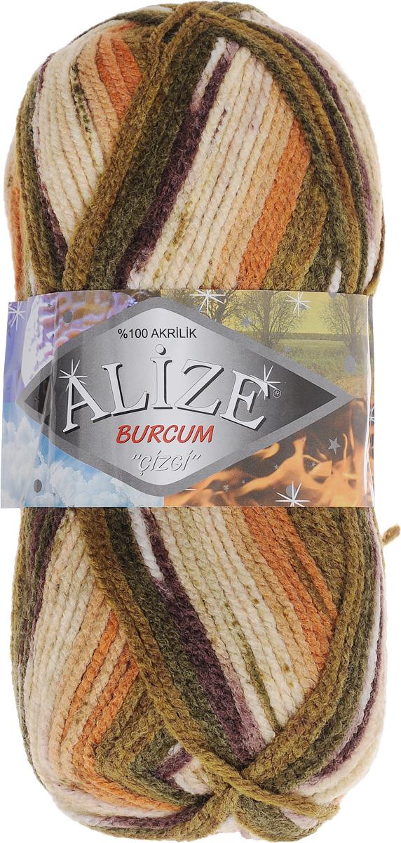 Пряжа для вязания Alize Burсum Cizgi, цвет: оранжевый, зеленый, бежевый (5856), 210 м, 100 г, 5 шт364117_5856Пряжа Alize Burсum Cizgi - это классическая демисезонная пряжа секционного крашения. В процессе вязания нить превращается в оригинальный узор в стиле жаккард. Петли ложатся ровно, полотно не косит, нитка не перекручивается. Вещи, связанные из такой пряжи, приятны коже, не колются, не линяют, не теряют своей формы. Пряжа идеальна для свитеров, жилетов, шарфов, шапок, пледов и пр. Рекомендованные спицы для вязания 4-6 мм. Состав: 100% акрил.