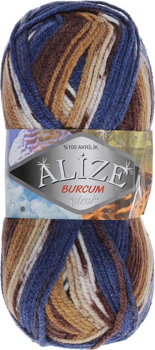 Пряжа для вязания Alize Burсum Cizgi, цвет: синий, коричневый, бежевый (5692), 210 м, 100 г, 5 шт364117_5692Пряжа Alize Burсum Cizgi - это классическая демисезонная пряжа секционного крашения. В процессе вязания нить превращается в оригинальный узор в стиле жаккард. Петли ложатся ровно, полотно не косит, нитка не перекручивается. Вещи, связанные из такой пряжи, приятны коже, не колются, не линяют, не теряют своей формы. Пряжа идеальна для свитеров, жилетов, шарфов, шапок, пледов и пр. Рекомендованные спицы для вязания 4-6 мм. Состав: 100% акрил.