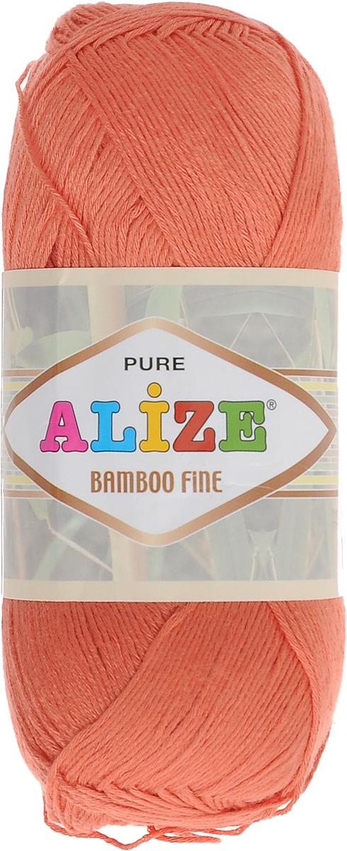 Пряжа для вязания Alize Bamboo Fine, цвет: персиковый (692), 440 м, 100 г, 5 шт688988_692Легкая пряжа Alize Bamboo Fine подходит для ручного вязания детских и взрослых вещей. Приятная на ощупь, обладающая высокой гигроскопичностью. Пряжа Alize Bamboo Fine из бамбука подойдет для самых разных вязаных изделий: сарафанов, туник, платьев, легких костюмов, кофт, шалей и накидок. Ее с одинаковым успехом можно использовать и для спиц, и для вязания крючком. В палитре большой выбор ярких цветов и пастельных мягких оттенков. Не стоит с предубеждением относиться к искусственной пряже, ведь она обладает целым рядом преимуществ. За изделиями из пряжи Alize Bamboo Fine проще ухаживать, они не подвержены скатыванию, не вызывают аллергии, не собирают пыль, не линяют и не оставляют ворсинок на другой одежде. Рекомендованный размер спиц: № 2,5-3,5 мм, Рекомендованный размер крючка: № 1-3 мм. Состав: 100% бамбук.