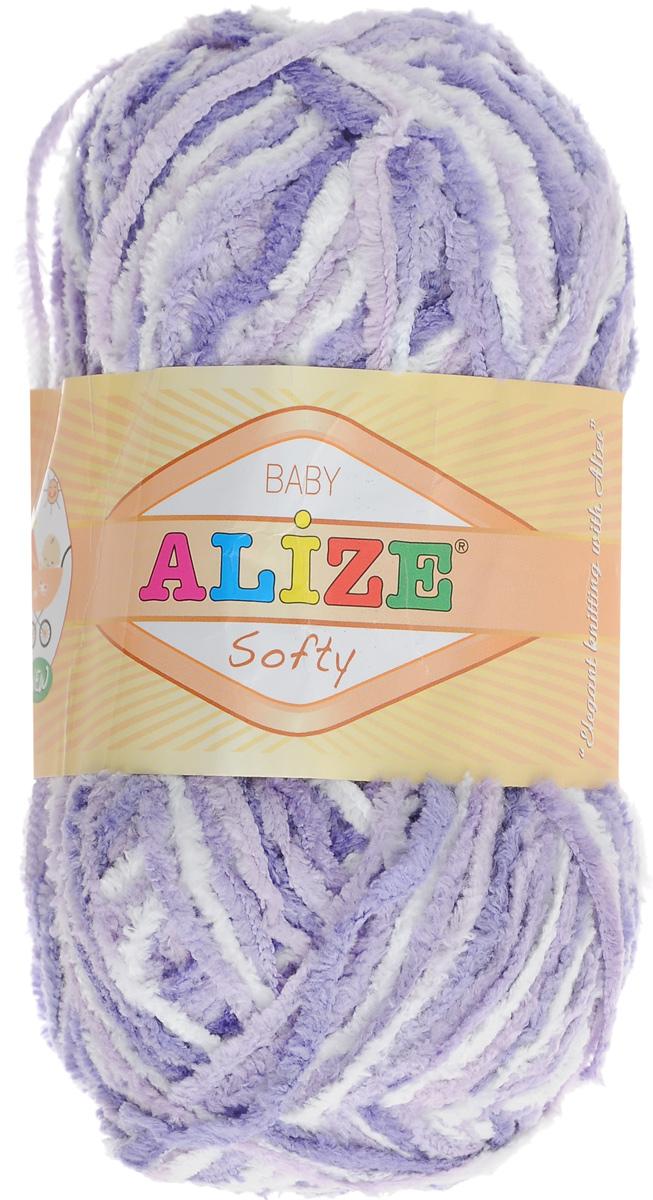 Пряжа для вязания Alize Softy, цвет: сиреневый, фиолетовый, белый (51627), 115 м, 50 г, 5 шт694530_51627Пряжа для вязания Alize Softy изготовлена из микрополиэстера. Фантазийная плюшевая пряжа для ручного вязания прекрасно подойдет для детской одежды. Ниточка мягкая и приятная на ощупь. Подходит для вязания спицами и крючком. Рекомендованные спицы: № 3-5, крючок: № 2-4. Комплектация: 5 мотков.