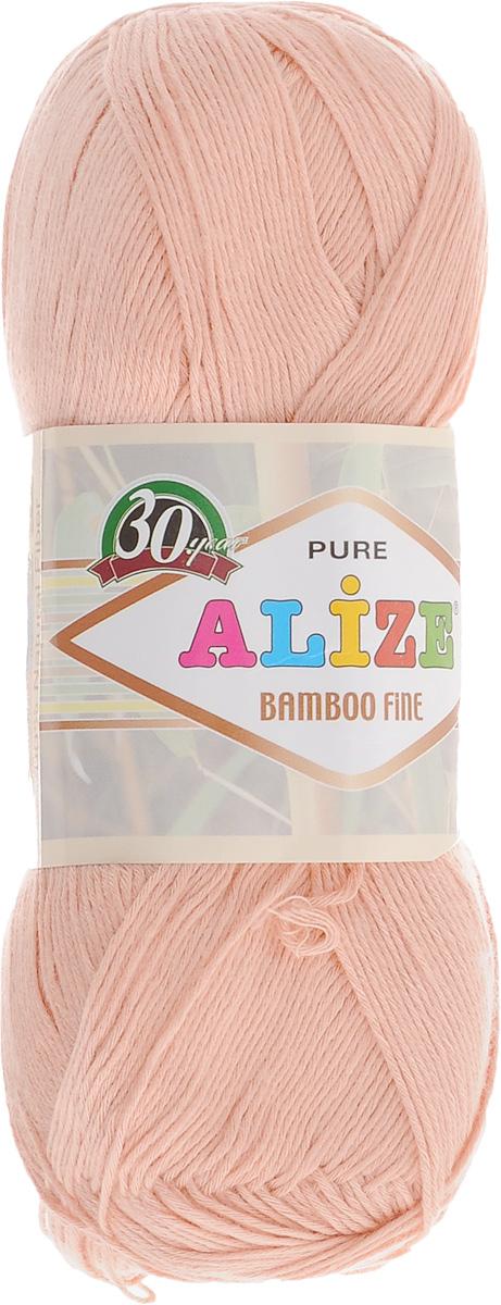 Пряжа для вязания Alize Bamboo Fine, цвет: светло-розовый (145), 440 м, 100 г, 5 шт688988_145Легкая пряжа Alize Bamboo Fine подходит для ручного вязания детских и взрослых вещей. Приятная на ощупь, обладающая высокой гигроскопичностью. Пряжа Alize Bamboo Fine из бамбука подойдет для самых разных вязаных изделий: сарафанов, туник, платьев, легких костюмов, кофт, шалей и накидок. Ее с одинаковым успехом можно использовать и для спиц, и для вязания крючком. В палитре большой выбор ярких цветов и пастельных мягких оттенков. Не стоит с предубеждением относиться к искусственной пряже, ведь она обладает целым рядом преимуществ. За изделиями из пряжи Alize Bamboo Fine проще ухаживать, они не подвержены скатыванию, не вызывают аллергии, не собирают пыль, не линяют и не оставляют ворсинок на другой одежде. Рекомендованный размер спиц: № 2,5-3,5 мм, Рекомендованный размер крючка: № 1-3 мм. Состав: 100% бамбук.