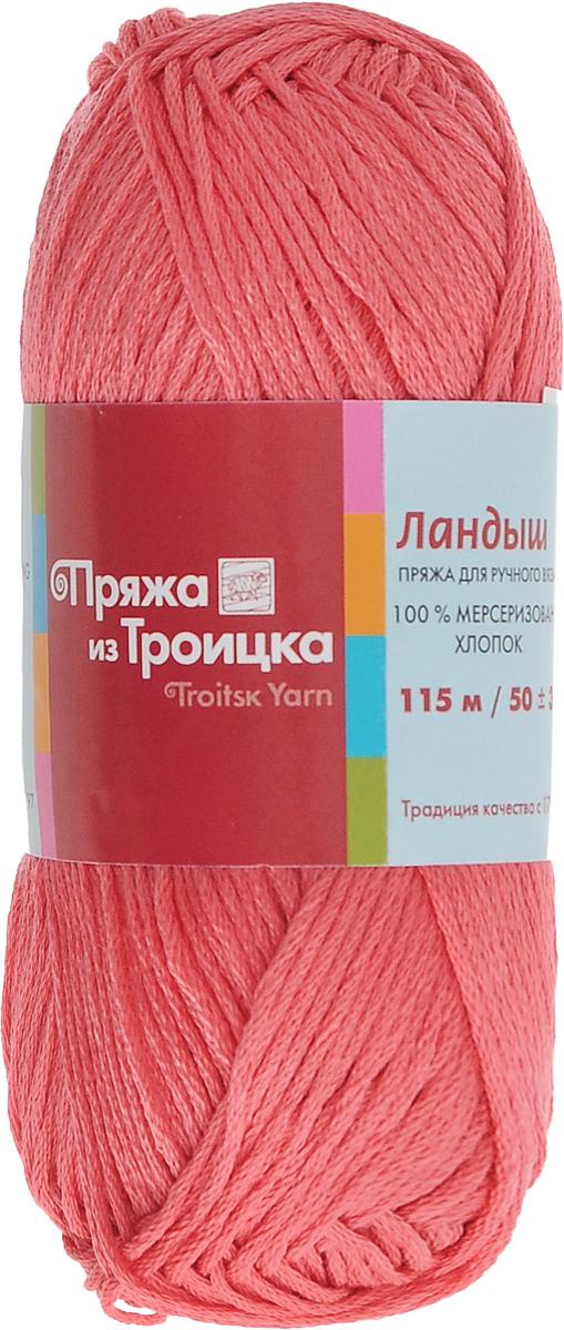 Пряжа для вязания Ландыш, цвет: коралл (1397), 115 м, 50 г, 10 шт366131_1397Пряжа Ландыш изготовлена из 100% мерсеризованного хлопка и предназначена для ручного вязания. Пряжа, прошедшая обработку под названием мерсеризация, приобретает блеск, ее легко окрасить в яркие устойчивые цвета. Мерсеризованный хлопок мягкий и шелковистый, он хорошо впитывает влагу. Связанный трикотаж получается легкий, гладкий и красивый. С такой пряжей процесс вязания превратится в настоящее удовольствие, а внешний вид изделий будет привлекать внимание. Рекомендуемый размер спиц: 3 мм. Состав: 100% мерсеризованный хлопок.