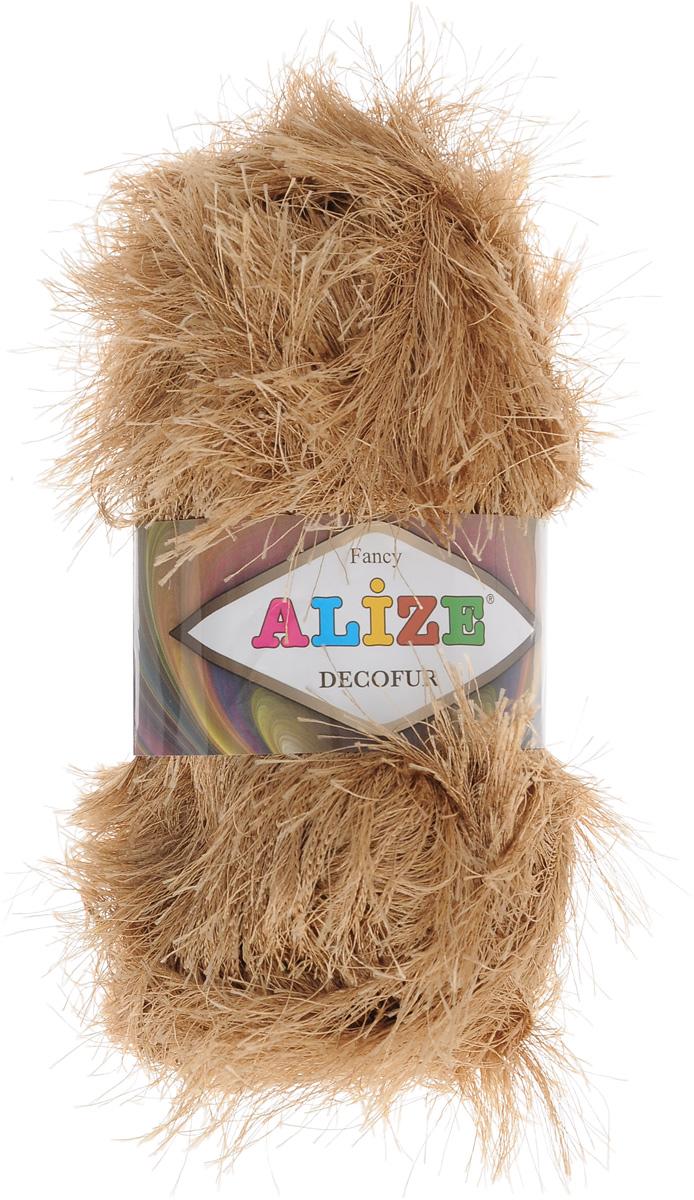 Пряжа для вязания Alize Decofur, цвет: карамельный (127), 110 м, 100 г, 5 шт364128_127Пряжа Alize Decofur изготовлена из высококачественного полиэстера. Пряжа - травка используется как для вязания самостоятельных пушистых изделий, так и для отделки. Это могут быть нарядные кофточки, куртки, накидки, шарфы, шапки, шали, предметы домашнего интерьера, игрушки и многое другое. Рекомендованные спицы для вязания: 6-8 мм. Рекомендованный крючок для вязания: 3-4 мм. Комплектация: 5 шт. Состав: 100% полиэстер.