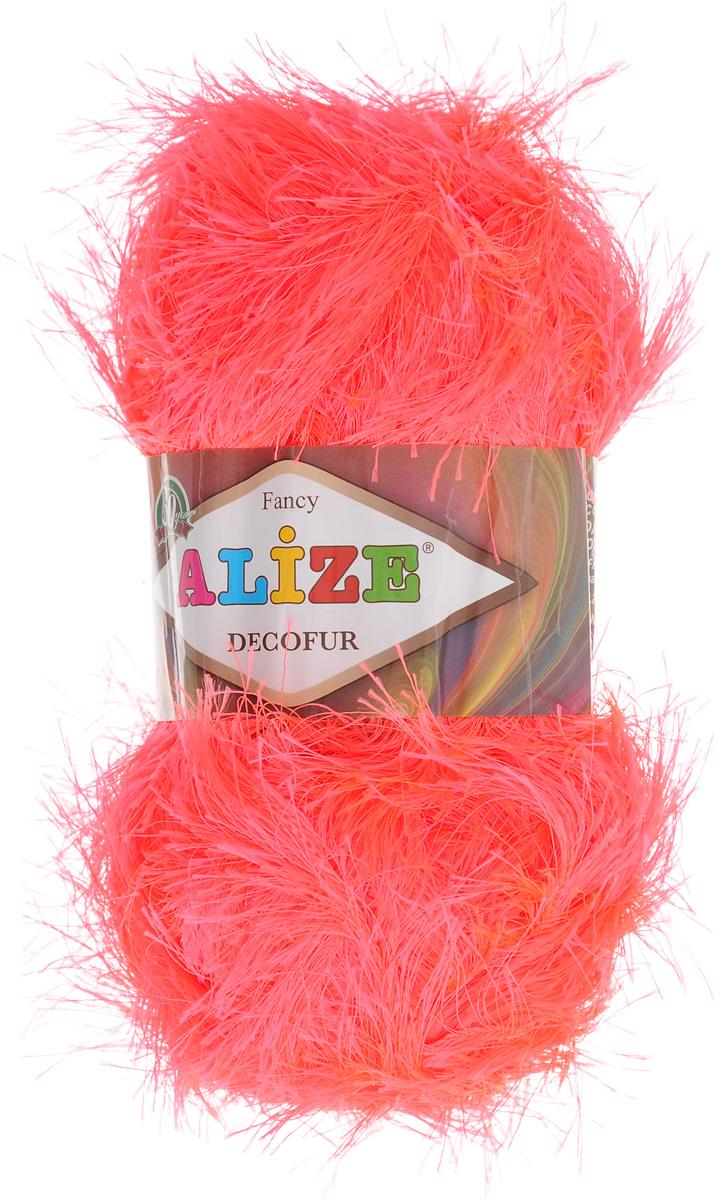 Пряжа для вязания Alize Decofur, цвет: коралловый неон (653), 110 м, 100 г, 5 шт364128_653Пряжа Alize Decofur изготовлена из высококачественного полиэстера. Пряжа - травка используется как для вязания самостоятельных пушистых изделий, так и для отделки. Это могут быть нарядные кофточки, куртки, накидки, шарфы, шапки, шали, предметы домашнего интерьера, игрушки и многое другое. Рекомендованные спицы для вязания: 6-8 мм. Рекомендованный крючок для вязания: 3-4 мм. Комплектация: 5 шт. Состав: 100% полиэстер.