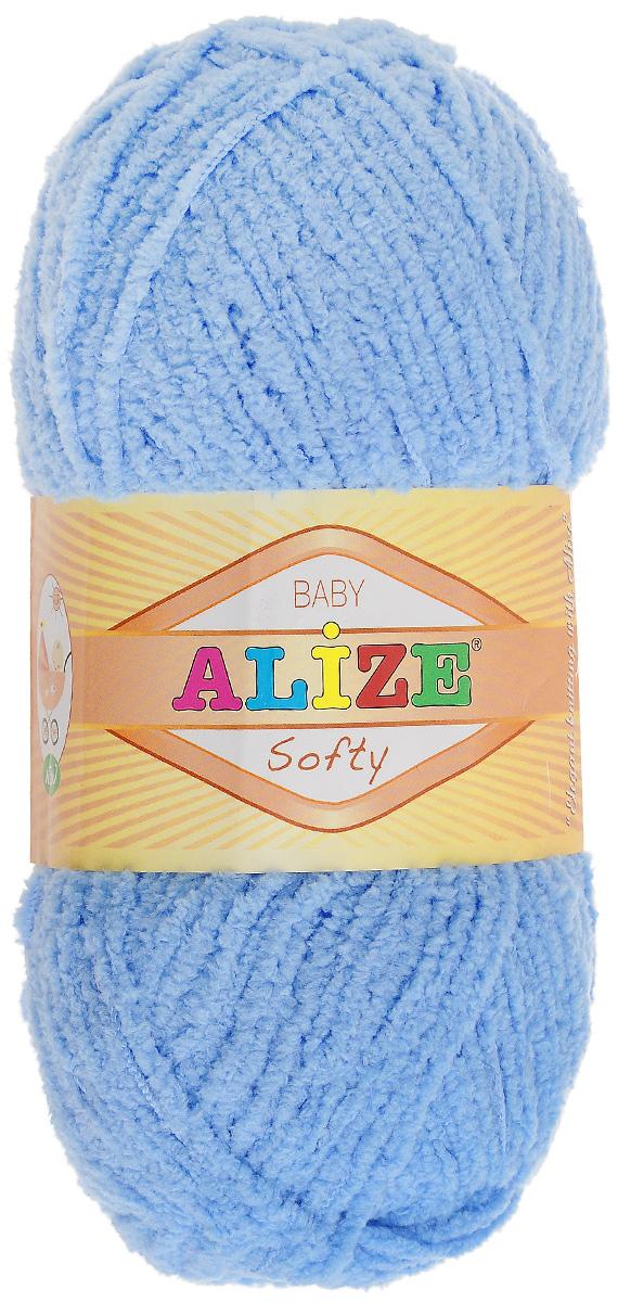 Пряжа для вязания Alize Softy, цвет: ярко-голубой (40), 115 м, 50 г, 5 шт694530_40Пряжа для вязания Alize Softy изготовлена из микрополиэстера. Фантазийная плюшевая пряжа для ручного вязания прекрасно подойдет для детской одежды. Ниточка мягкая и приятная на ощупь. Подходит для вязания спицами и крючком. Рекомендованные спицы: № 3-5, крючок: № 2-4. Комплектация: 5 мотков.