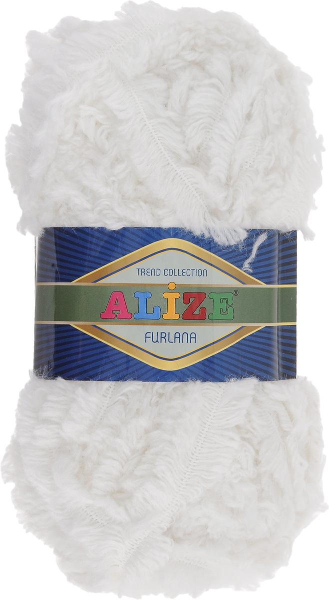 Пряжа для вязания Alize Furlana, цвет: белый (55), 40 м, 100 г, 5 шт582007_55Alize Furlana - это полушерстяная пряжа для ручного вязания, имитирующая мех. Нить плотно скручена, гибкая, послушная. Стойкое равномерное окрашивание обеспечивает широкую палитру оттенков, высокое качество материала и используемых красителей защищает от потери цвета. Соотношение шерсти и акрила - формула практичности. Высокие тепловые характеристики сочетаются с эстетикой, носкостью и простотой ухода за вещью. Классическая пряжа для зимнего сезона, может использоваться для детской и взрослой одежды. Alize Furlana - универсальная пряжа, которая будет хорошо смотреться в узорах любой сложности. Рекомендуемые спицы для вязания: № 8-12 мм. Комплектация: 5 мотков. Состав: 45% шерсть, 45% акрил, 10% полиамид.