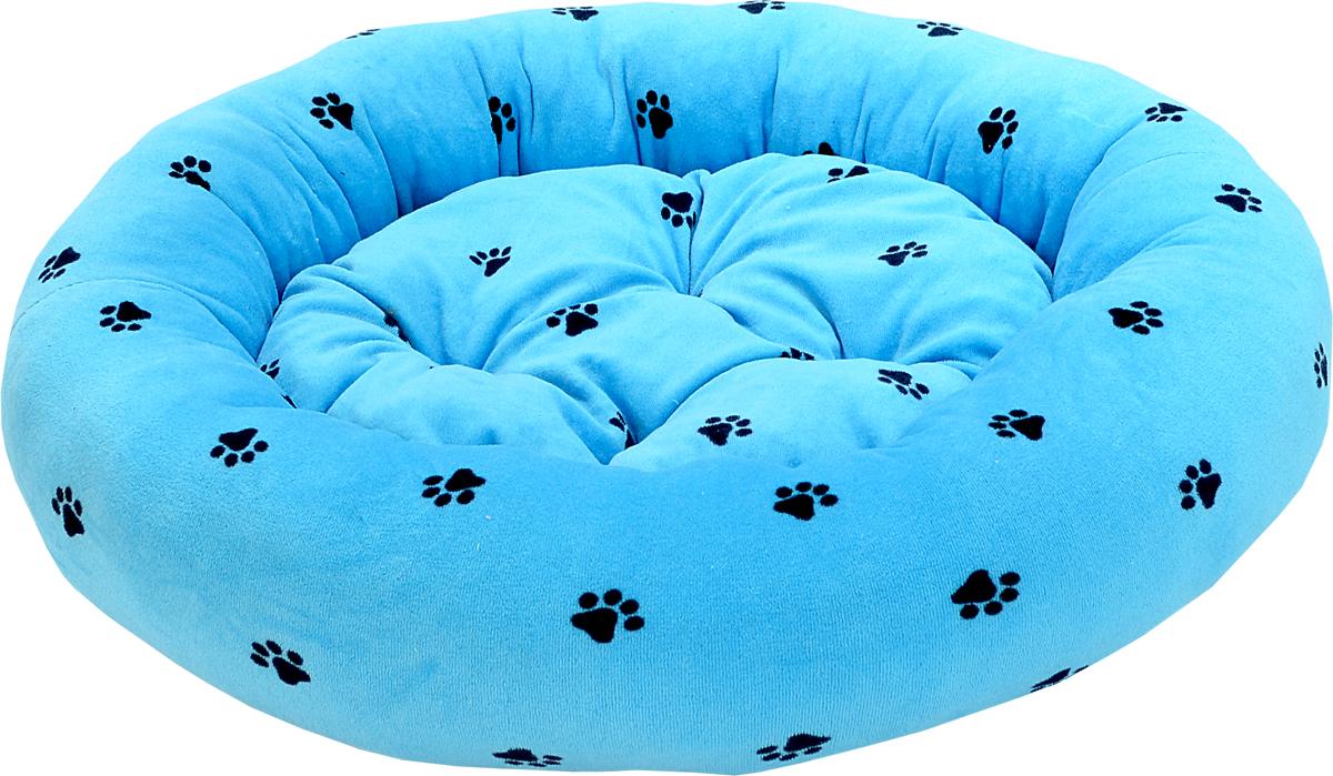Лежак для животных Зооник Лапки, цвет: голубой, диаметр 48 см. 2230622306Лежак для животных Зооник Лапки прекрасно подойдет для отдыха вашего домашнего питомца. Предназначен для собак мелких пород и кошек. Изделие выполнено из мягкого велюра голубого цвета. Лежак снабжен съемной мягкой подушкой. Комфортный и уютный лежак обязательно понравится вашему питомцу, животное сможет там отдохнуть и выспаться. Диаметр лежака: 48 см. Высота лежака: 15 см. Состав: велюр. Наполнитель: синтепон.