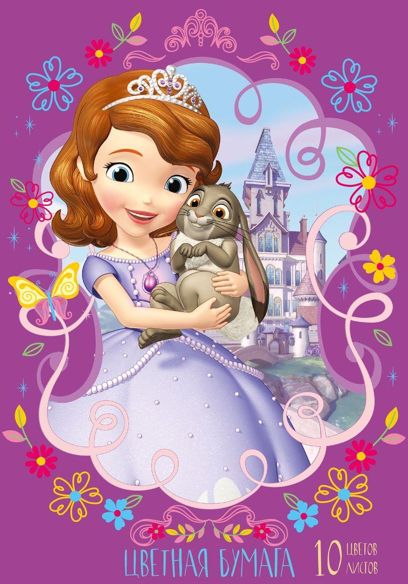 Disney Цветная бумага София 10 листов