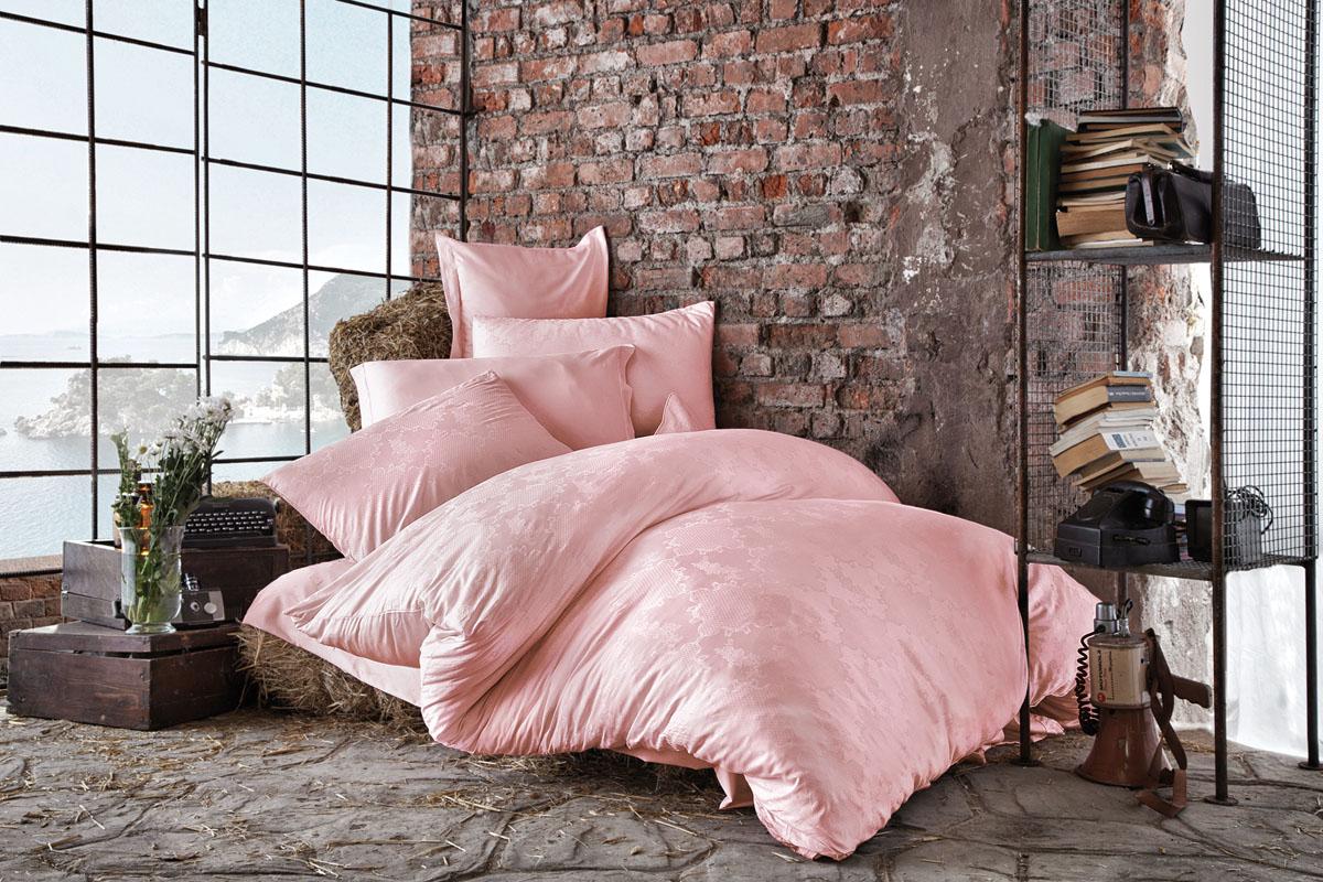 Комплект белья Issimo Home Harper, евро, наволочки 50x70, цвет: пудра. 4614