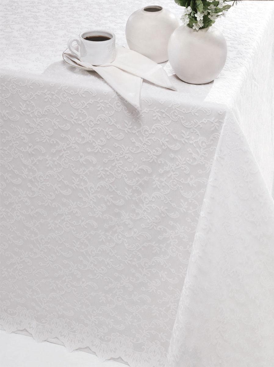 Скатерть Issimo Home Simona, прямоугльная, 160 x 300 см4902Скатерти ISSIMO - это настоящий шедевр текстильной индустрии! Мягкие, переливающиеся оттенки, разнообразные варианты жаккарда, невероятно износоустойчивые и легкие в уходе ткани - все это позволит скатертям стать Вашим незаменимым помощником на кухне! Они не только украсят любую кухню или гостиную, но и станут прекрасным подарком на любые случаи жизни!