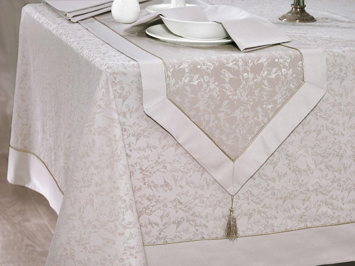Скатерть Issimo Home Henley, прямоугльная, 160 x 300 см. 49064906Скатерти ISSIMO - это настоящий шедевр текстильной индустрии! Мягкие, переливающиеся оттенки, разнообразные варианты жаккарда, невероятно износоустойчивые и легкие в уходе ткани - все это позволит скатертям стать Вашим незаменимым помощником на кухне! Они не только украсят любую кухню или гостиную, но и станут прекрасным подарком на любые случаи жизни!