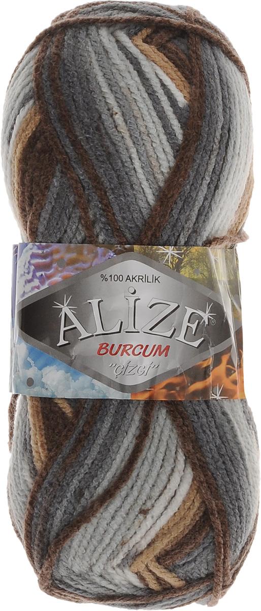 Пряжа для вязания Alize Burсum Cizgi, цвет: коричневый, светло-коричневый, голубой (5855), 210 м, 100 г, 5 шт364117_5855Пряжа Alize Burсum Cizgi - это классическая демисезонная пряжа секционного крашения. В процессе вязания нить превращается в оригинальный узор в стиле жаккард. Петли ложатся ровно, полотно не косит, нитка не перекручивается. Вещи, связанные из такой пряжи, приятны коже, не колются, не линяют, не теряют своей формы. Пряжа идеальна для свитеров, жилетов, шарфов, шапок, пледов и пр. Рекомендованные спицы для вязания 4-6 мм. Состав: 100% акрил.