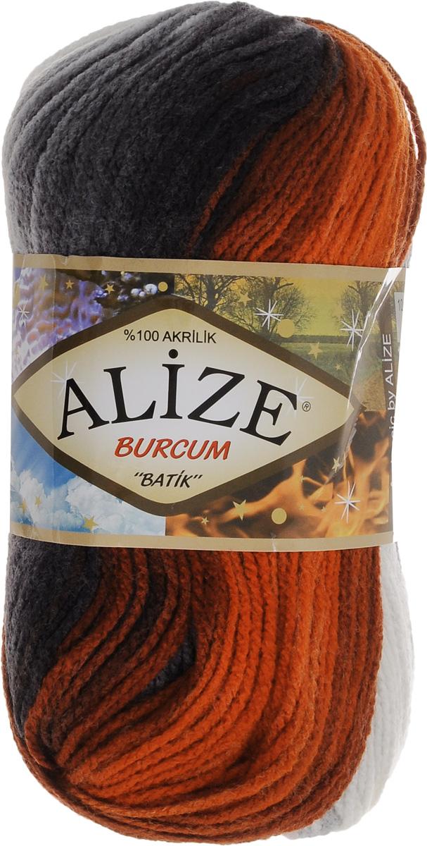 Пряжа для вязания Alize Burcum Batik, цвет: оранжевый, серый, белый (4204), 210 м, 100 г, 5 шт364118_4204Пряжа для вязания Alize Burcum Batik изготовлена из 100% акрила, что способствует прекрасному тепловому обмену, легкости и комфорту. Ниточка тонкая, пушистая. Из данной пряжи получаются вещи, которые не требуют ни украшений, ни дополнений. Пряжа допускает самую простую и примитивную вязку, но при этом смотрится необычно благодаря своей цветовой палитре. Пряжа отлично подходит для вязания свитеров, жилетов, шарфов, шапок, шалей и многого другого. Рекомендуемый размер спиц 4-6 мм.